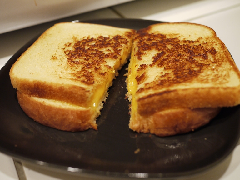 grilled cheese sandwich late night snack