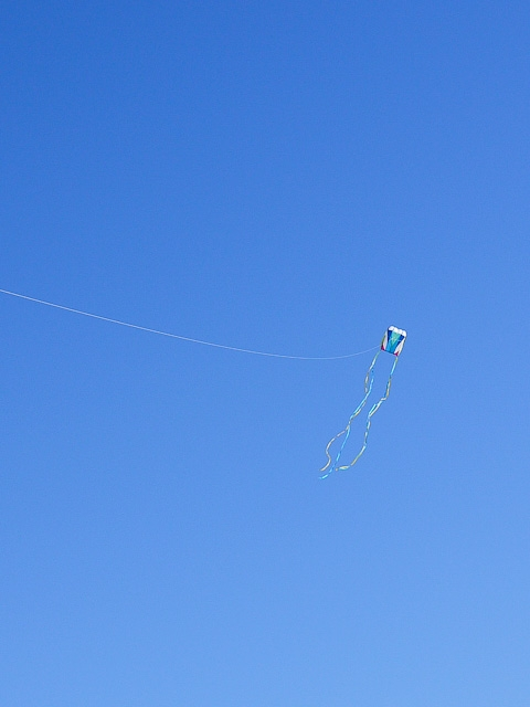 march 2011 box kite blue skies
