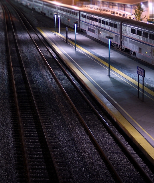 amtrak train station night emeryville