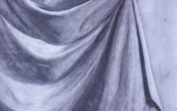 charcoal drawing drapery